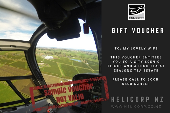 Gift vouchers from Helicorp NZ
