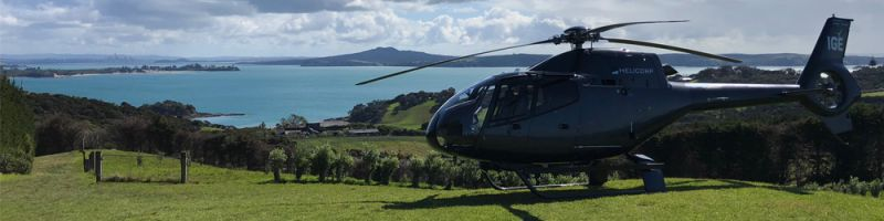 Heli flights to Waiheke wineries