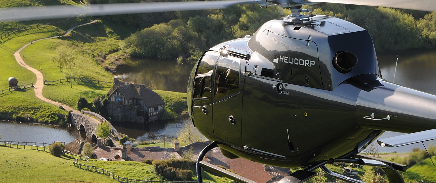 Helicopter Flying Over Hobbiton