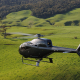 arrive at Fieldays by helicopter